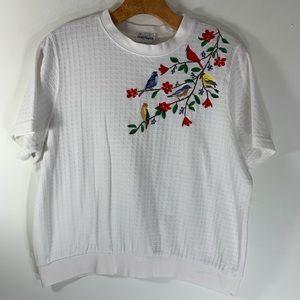BON WORTH vintage t shirt embroidery